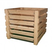 Komposter aus widerstandsfähigem Lärchenholz, Selbstmontage 100x95 cm