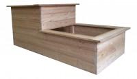 2-Stufen Hochbeet aus Lärchenholz zur Selbstmontage