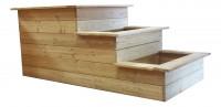 3-Stufen Hochbeet aus Lärchenholz zur Selbstmontage