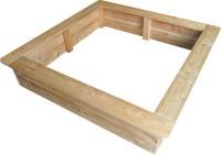 Sandkiste aus beständigem Lärchenholz 130 cm x 130 cm