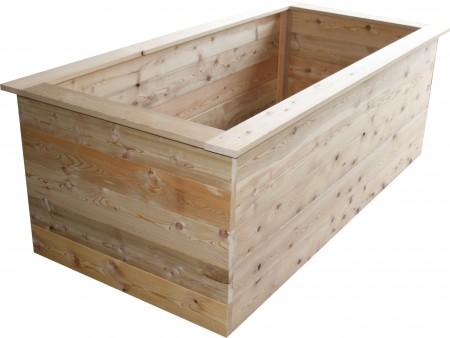 hochbeet aus l rchenholz hochbeet zum selber bauen. Black Bedroom Furniture Sets. Home Design Ideas