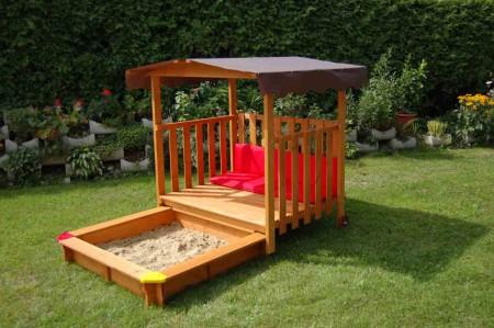 gaspo spielhaus mit sandkasten sandkiste mit spielhaus. Black Bedroom Furniture Sets. Home Design Ideas