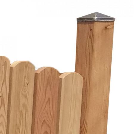 abdeckkappe f r holzpfosten 100x100 mm edelstahl. Black Bedroom Furniture Sets. Home Design Ideas