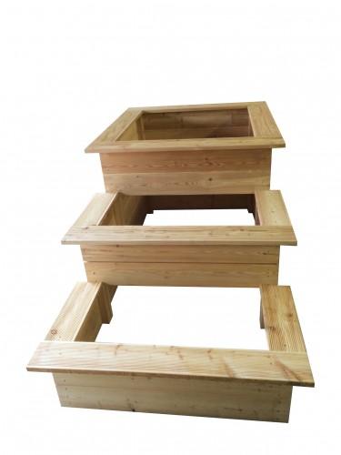 3 Stufen Hochbeet Aus Larchenholz Zur Selbstmontage