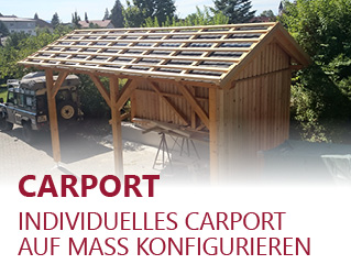 Carport - Individuelles Carport auf Mass konfigurieren