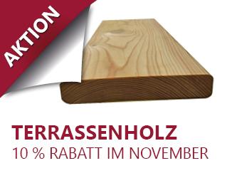 Aktion Terrassenholz